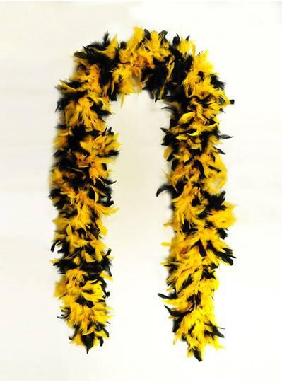 Feather Boa Black & Yellow