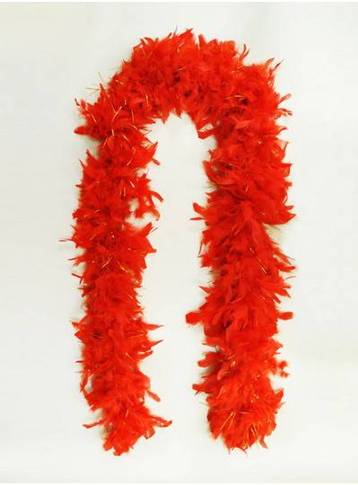 Feather Boas Red with Tinsel