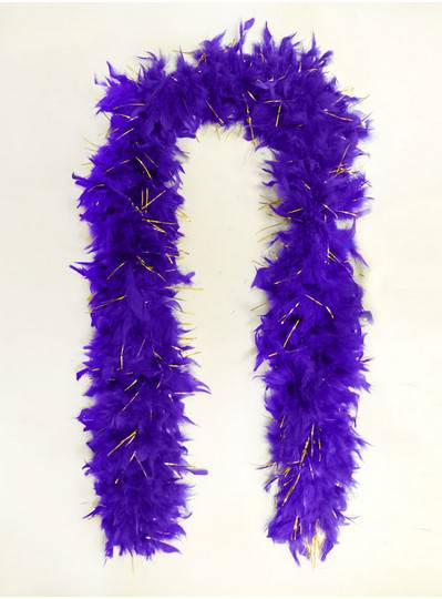 Feather Boas Purple with Tinsel