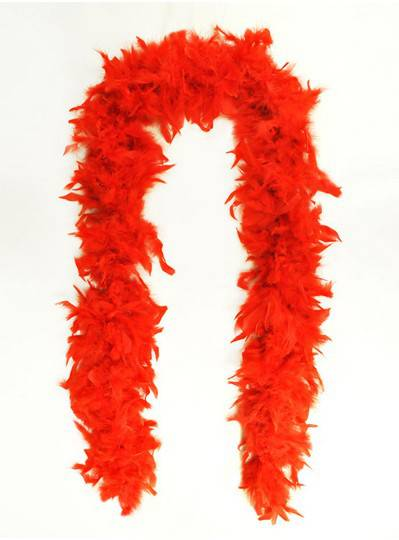 Feather Boa Red Light Weight