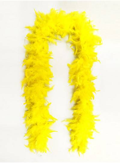 Feather Boa Yellow Light Weight