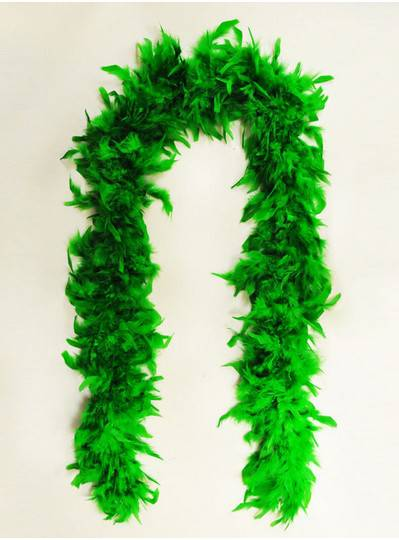 Feather Boa Green Light Weight