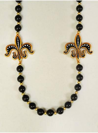 New Orleans Black and Gold Fleur de Lis