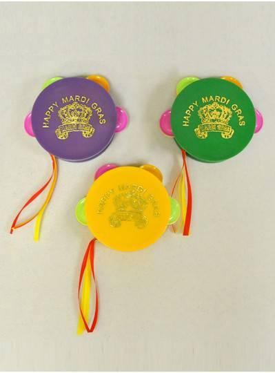 Plush Dolls & Toys - Purple, Green & Gold Tamborines