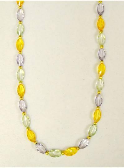 Mardi Gras Themes - PGG Transparent Flat Oval Beads