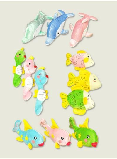 Plush Dolls & Toys - Colorful Fish Assortment