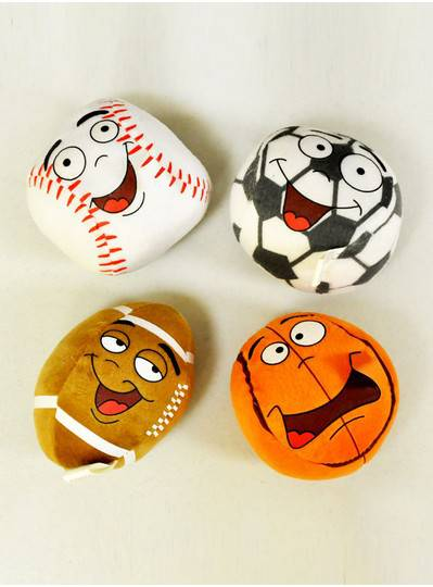 Plush Dolls & Toys - Sports Ball Assortment