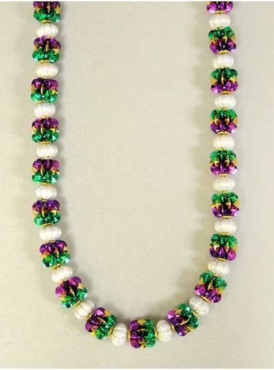 Mardi Gras Themes - Purple, Green & Gold Handstrung