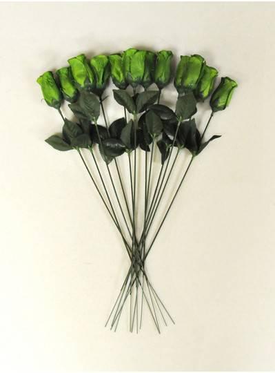 "Plush Dolls & Toys - Green 16"" Long Stem Roses"