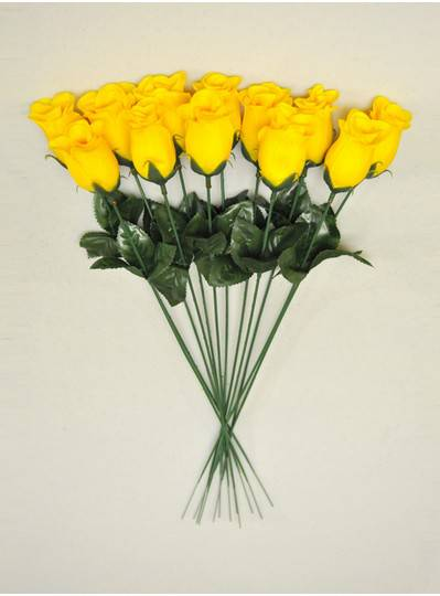 "Plush Dolls & Toys - Yellow 16"" Long Stem Roses"