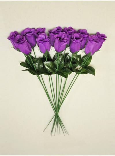 """Plush Dolls & Toys - Purple 16"""" Long Stem Roses"""