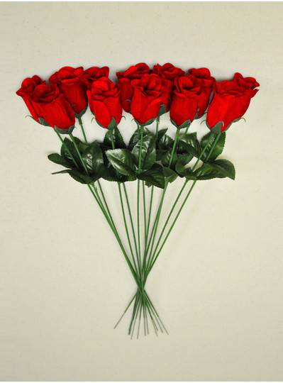 "Plush Dolls & Toys - Red 16"" Long Stem Roses"