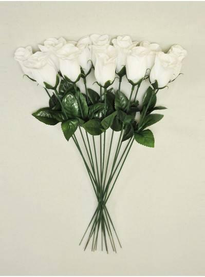 "Plush Dolls & Toys - White 16"" Long Stem Roses"