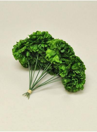 "Plush Dolls & Toys - Green 7"" Short Stem Carnations"