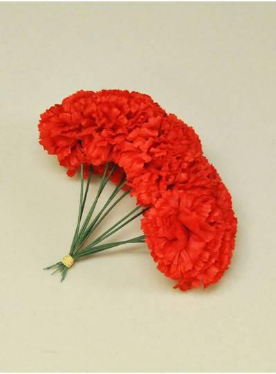 "Plush Dolls & Toys - Red 7"" Short Stem Carnations"