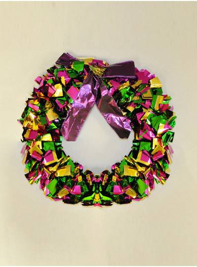 "Decorations - 16"" Foil Wreath"