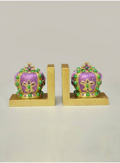 "Decorations - 5"" X 6"" Crown Bookends"
