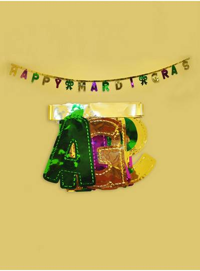 Decorations - 9 Happy Mardi Gras Banner