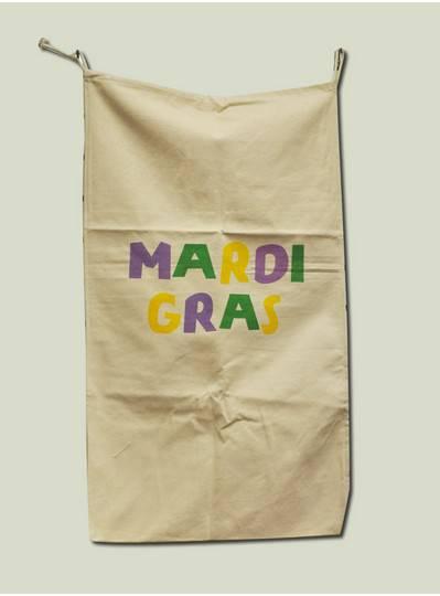 Bead Bags - Canvas Mardi Gras Bag