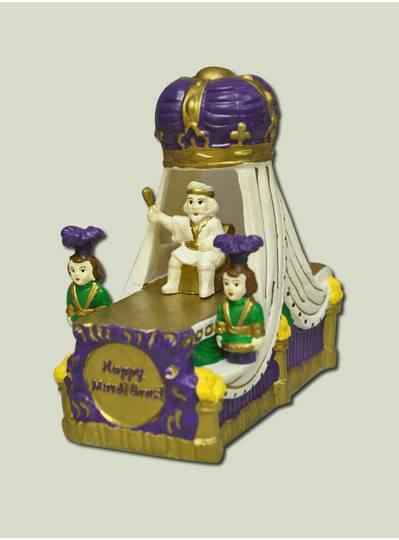 "Decorations - 6"" Ceramic Purple Crown Float"