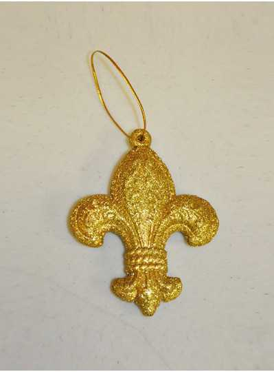 Decorations - Gold Glitter FDL Ornament