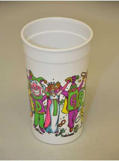 Theme Plastic Cups - Mardi Gras Parade