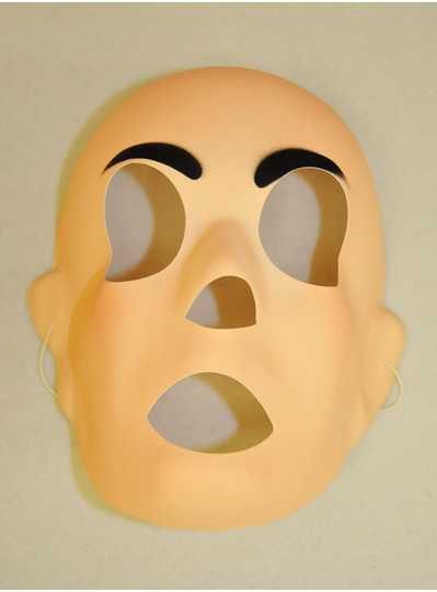 Mardi Gras Masks - MASK FLESH MATTE