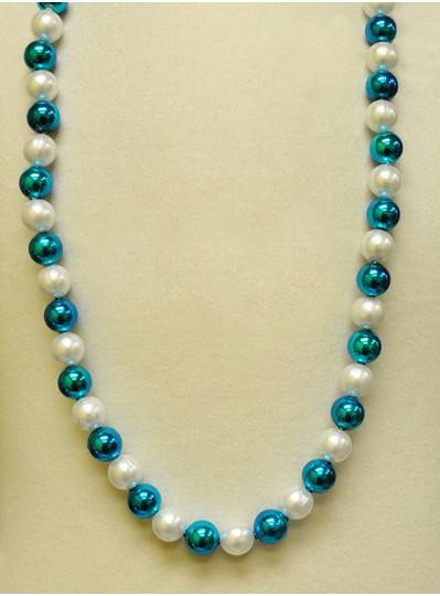 Handstrung Alternating Turquoise & Pearl