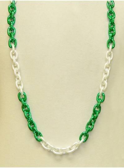 """48"""" Chain Green & White"""