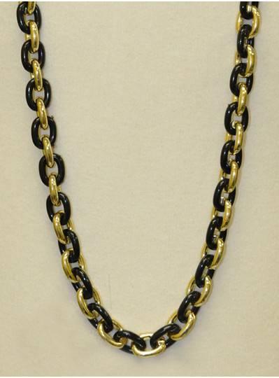 "48"" Chain Single Black & Gold"