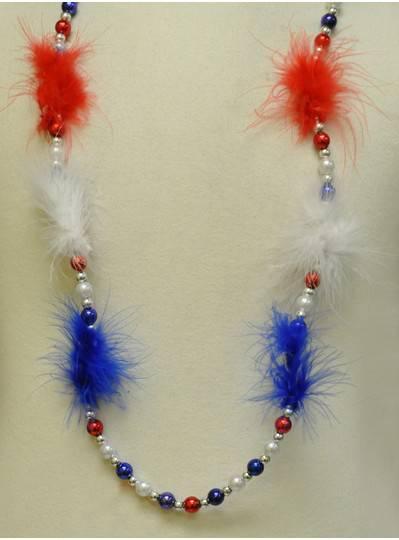 Blinky Beads - RWB Feathers