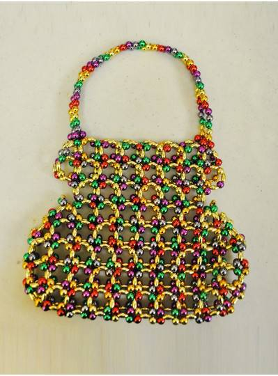 Fun Accessories - Rainbow Beaded Purse