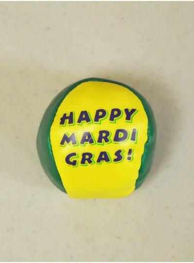 "Plush Dolls & Toys - ""Happy Mardi Gras"" Hacky Sack"