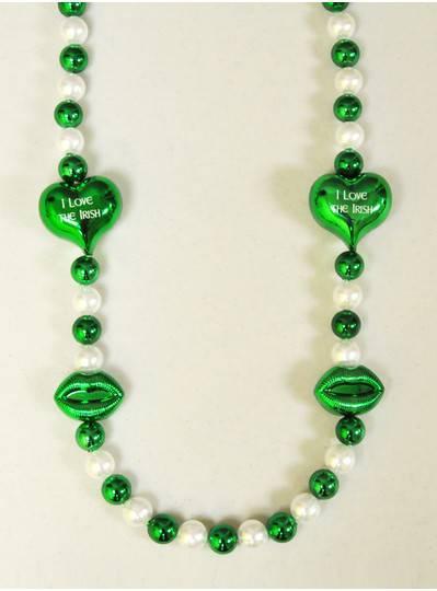 Irish Themes - St. Patricks Day Heart/Lips Bead