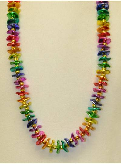 Handstrung Beads with Rainbow Waves