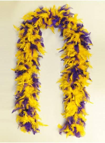Feather Boa Purple & Gold Mix