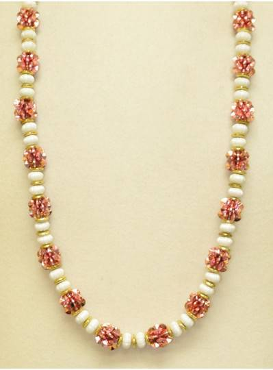 Handstrung Beads - Champagne Flowers & Pearls