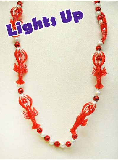 Blinky Beads Crawfish with Red & White Beads
