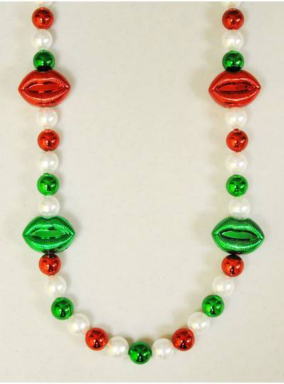 Italian Themed Red & Green Lips With Pearls