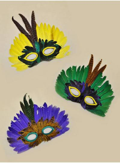 Feather Mask MASK ASST 5015
