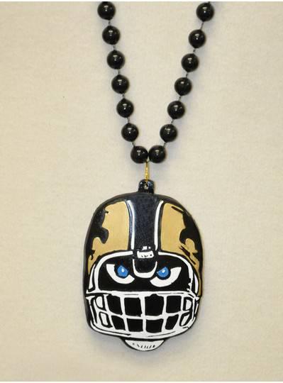 New Orleans Themes Black & Gold Football Helmet