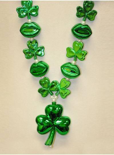 St. Patricks Day - Shamrocks and Lips