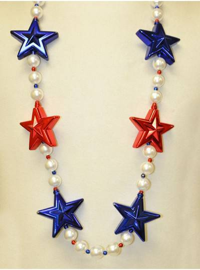 Patriotic Red and Blue Stars