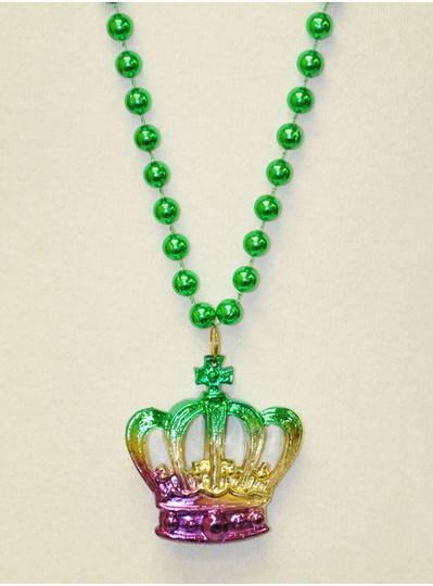 Mardi Gras Themes - 3-Tone PGG Metallic Crown Beads