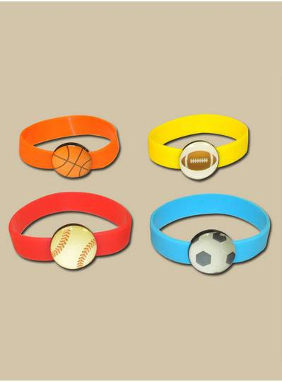 Fun Accessories - Sports Rubber Band Bracelet Assortment