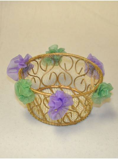 Decorations - Gauze Mesh Mardi Gras Bowl