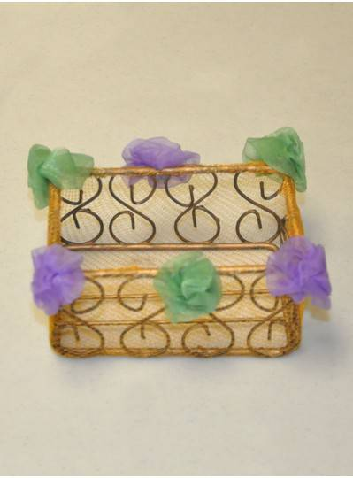 Decorations - Gauze Mesh Mardi Gras Rectangular Bowl