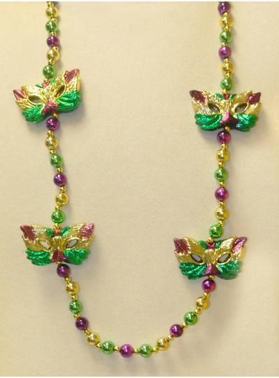 Mardi Gras Themeds Masks and Metallic Beads
