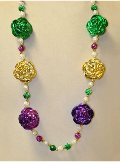 """42"""" 14mm PGG Rose Beads"""