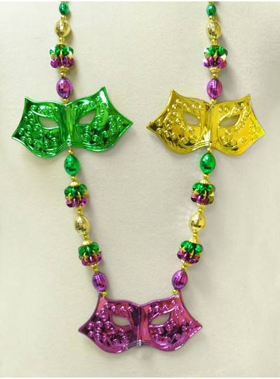 Mardi Gras Themed Mardi Gras Mask Handstrung Bead